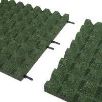 Zelená gumová dlaždice (V50/R28) - délka 100 cm, šířka 100 cm a výška 5 cm