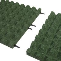 Zelená gumová dlaždice (V50/R28) - délka 50 cm, šířka 50 cm a výška 5 cm