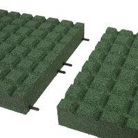 Zelená gumová dlaždice (V80/R15) - délka 50 cm, šířka 50 cm a výška 8 cm FLOMAT