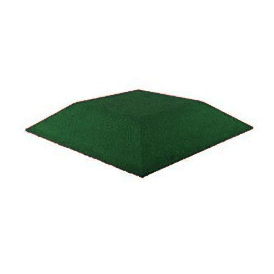 Zelená gumová krajová dlaždice (roh) (V100/R00) - délka 50 cm, šířka 50 cm a výška 10 cm FLOMAT