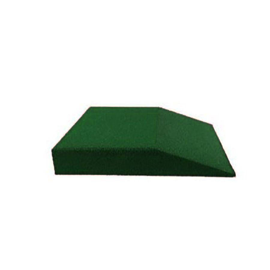 Zelená gumová krajová dlaždice (V100/R00) - délka 50 cm, šířka 50 cm a výška 10 cm FLOMAT
