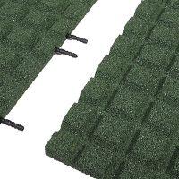 Zelená gumová krajová dlaždice (V30/R15) - délka 50 cm, šířka 25 cm a výška 3 cm