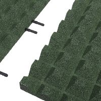 Zelená gumová krajová dlaždice (V40/R28) - délka 50 cm, šířka 25 cm a výška 4 cm