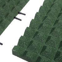 Zelená gumová krajová dlaždice (V45/R28) - délka 50 cm, šířka 25 cm a výška 4,5 cm