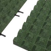 Zelená gumová krajová dlaždice (V50/R28) - délka 50 cm, šířka 25 cm a výška 5 cm