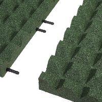 Zelená gumová krajová dlaždice (V55/R28) - délka 50 cm, šířka 25 cm a výška 5,5 cm