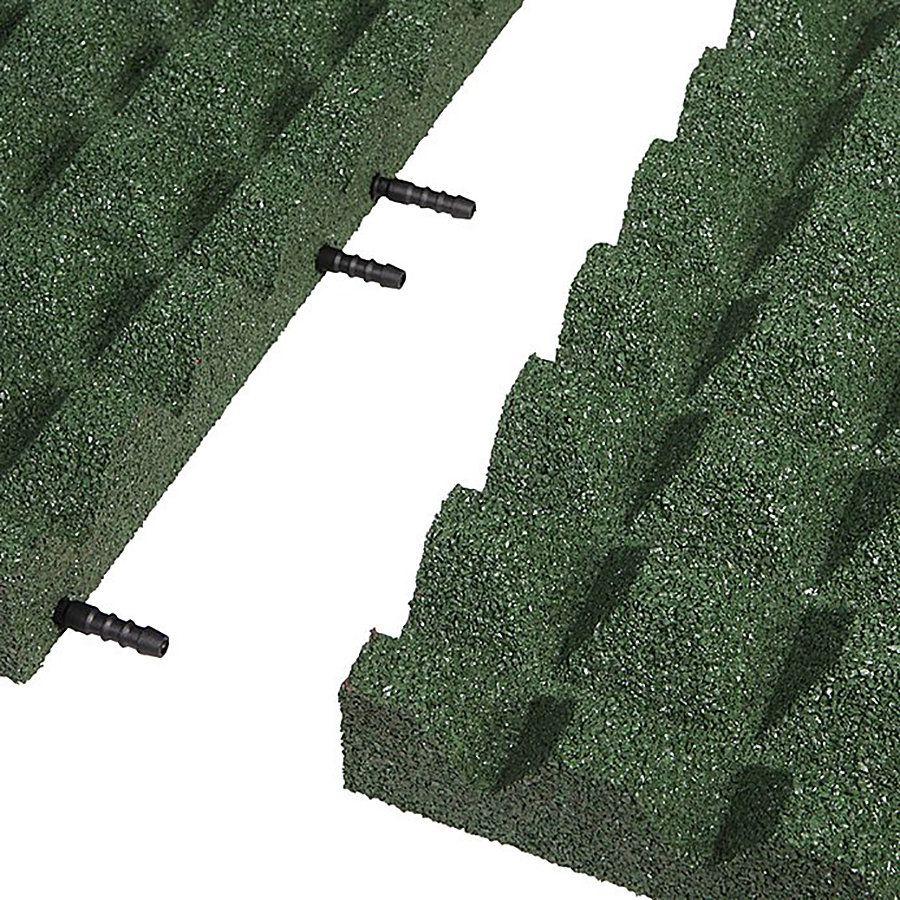 Zelená gumová krajová dlaždice (V55/R28) - délka 50 cm, šířka 25 cm a výška 5,5 cm FLOMAT