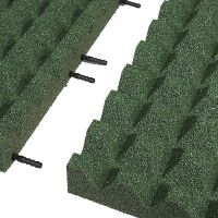 Zelená gumová krajová dlaždice (V65/R28) - délka 50 cm, šířka 25 cm a výška 6,5 cm