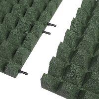 Zelená gumová krajová dlaždice (V65/R50) - délka 50 cm, šířka 25 cm a výška 6,5 cm