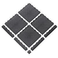 Černá bazénová modulární rohož Lok-Tyle - 30,5 cm x 30,5 cm x 1,43 cm