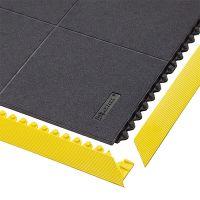 Černá gumová modulární průmyslová rohož Cushion Ease Solid, Nitrile FR - délka 91 cm, šířka 91 cm a výška 1,9 cm