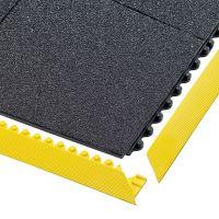 Černá gumová modulární průmyslová rohož Cushion Ease Solid, Nitrile GSII FR - délka 91 cm, šířka 91 cm a výška 1,9 cm