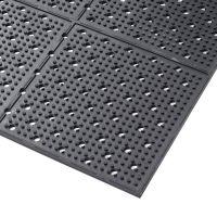 Černá gumová protiskluzová oboustranná rohož Multi Mat II - délka 122 cm, šířka 975 cm a výška 0,95 cm