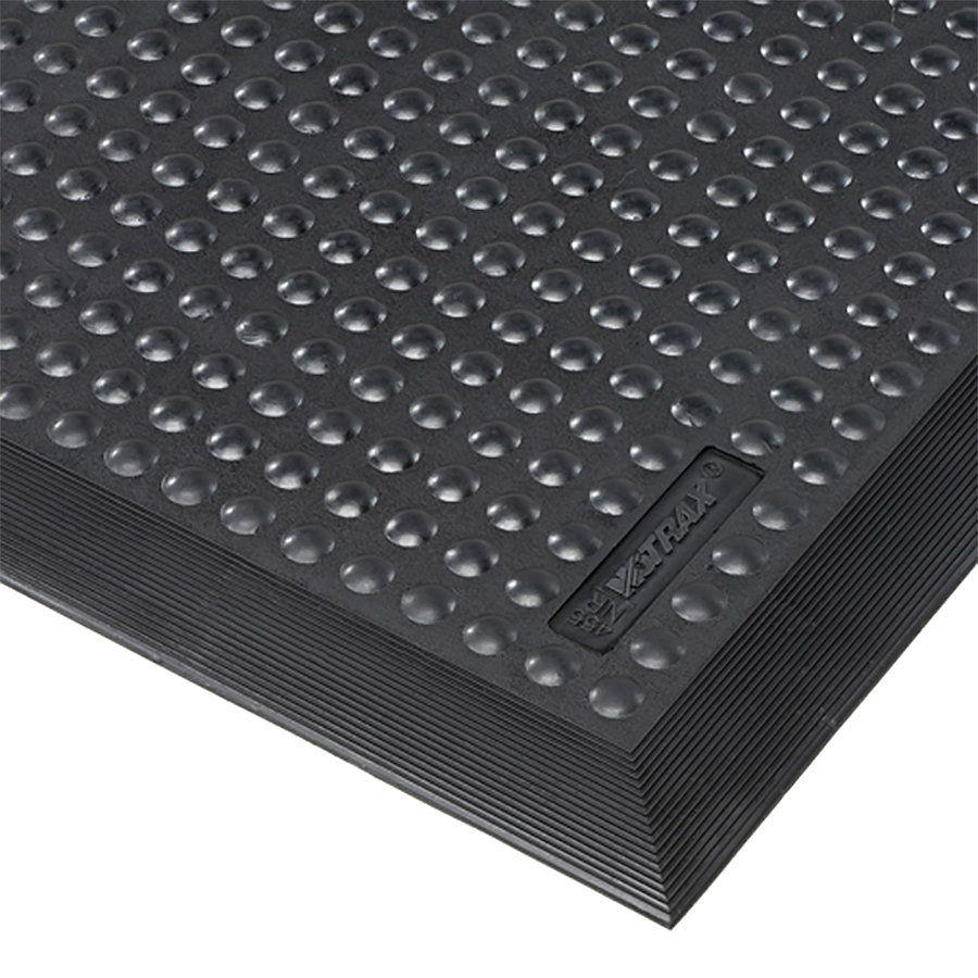 Černá gumová protiúnavová průmyslová rohož Skystep, ESD - délka 60 cm, šířka 90 cm a výška 1,3 cm FLOMAT