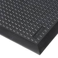 Černá gumová protiúnavová rohož Skystep, ESD - 90 x 120 x 1,3 cm