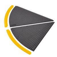 Černá gumová rohož (okraj) Skywalker HD i-Curve, ESD - výška 1,3 cm