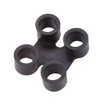 Černá gumová spojka pro rohože Sanitop Deluxe