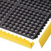 Černá modulární průmyslová rohož Cushion Easy - 91 x 91 x 1,9 cm
