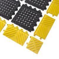 Černá plastová modulární rohož (dlaždice) Diamond Flex Lok - 30 x 30 x 2,5 cm