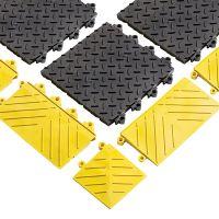 Černá plastová modulární rohož (dlaždice) Diamond Flex Lok Solid - 30 x 30 x 2,5 cm