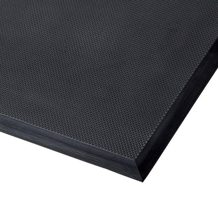 Černá polyuretanová protiúnavová průmyslová rohož Skywalker II PUR, ESD - délka 90 cm, šířka 155 cm a výška 1,4 cm FLOMAT