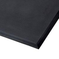 Černá polyuretanová protiúnavová průmyslová rohož Skywalker II PUR, ESD - délka 90 cm, šířka 185 cm a výška 1,4 cm FLOMAT
