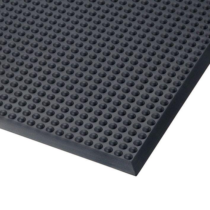 Černá polyuretanová protiúnavová průmyslová rohož Skywalker PUR, ESD - délka 65 cm, šířka 185 cm a výška 1,4 cm FLOMAT