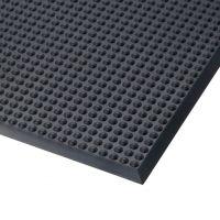 Černá polyuretanová protiúnavová rohož Skywalker PUR, ESD - 95 x 185 x 1,4 cm