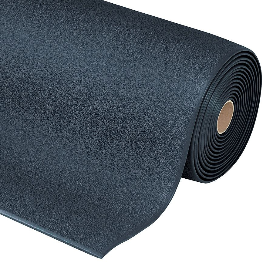 Černá protiskluzová ESD rohož Cushion Stat - délka 150 cm, šířka 91 cm a výška 0,94 cm FLOMAT