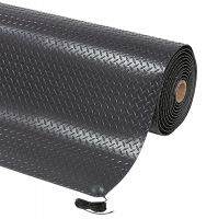 Černá protiskluzová ESD rohož Diamond Stat - 2280 x 122 x 1,4 cm