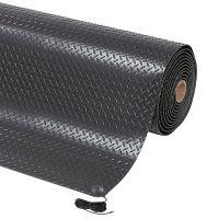 Černá protiskluzová ESD rohož Diamond Stat - 300 x 91 x 1,4 cm