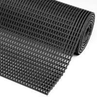 Černá protiskluzová průmyslová olejivzdorná rohož Flexdek  - 10 m x 122 cm x 1,2 cm