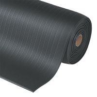 Černá protiúnavová průmyslová rohož Airug, Plus - 1830 x 91 x 0,94 cm