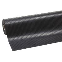 Černá průmyslová rohož Rib 'n' Roll - 1000 x 120 x 0,3 cm