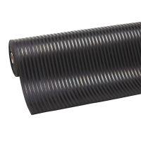 Černá průmyslová rohož Rib 'n' Roll - 1000 x 120 x 0,6 cm