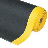 Černo-žlutá protiúnavová průmyslová rohož Sof-Tred, Plus - 1830 x 60 x 0,94 cm