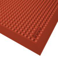 Červená gumová kuchyňská rohož Skystep, Red - 90 x 150 x 1,3 cm