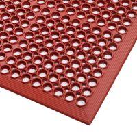 Červená gumová protiskluzová kuchyňská rohož Sanitop, Red - 91 x 152 x 1,27 cm