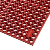 Červená gumová protiúnavová rohož Sanitop Deluxe, Red  - 91 x 152 x 2 cm