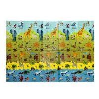 Dětská hrací pěnová skládací podložka ABC Animals, Casmatino - 200 x 140 x 1 cm