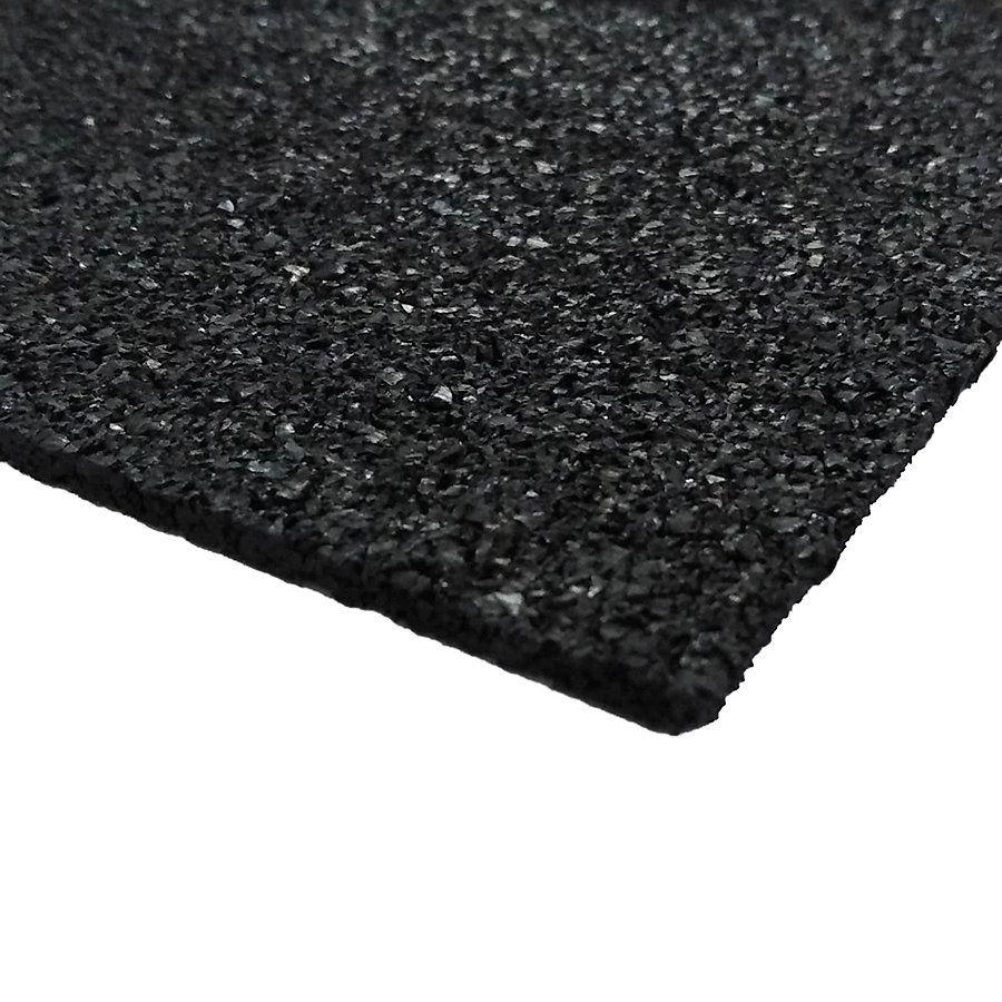 Gumová tlumící podložka FS730 - délka 25 cm, šířka 25 cm a výška 0,3 cm FLOMAT