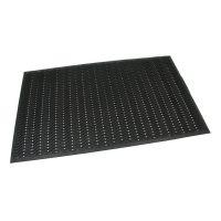 Gumová vstupní čistící neděrovaná rohož Waves - 150 x 90 x 1,2 cm