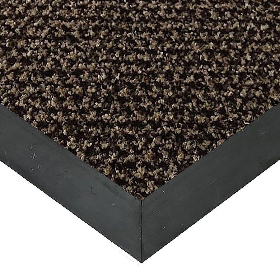 Hnědá textilní vstupní vnitřní čistící rohož Alanis, FLOMAT - délka 60 cm, šířka 90 cm a výška 0,75 cm