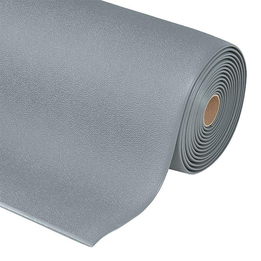Šedá protiskluzová ESD rohož Cushion Stat - délka 18,3 m, šířka 91 cm a výška 0,94 cm FLOMAT