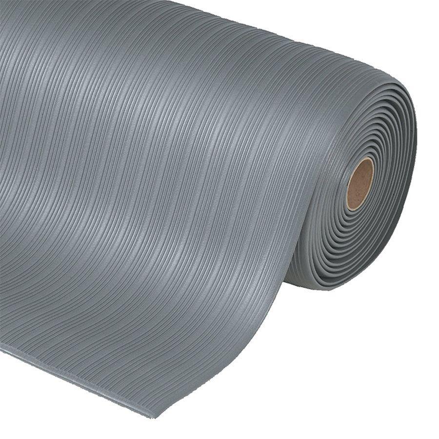 Šedá protiúnavová průmyslová rohož Airug, Plus - délka 18,3 m, šířka 122 cm a výška 0,94 cm FLOMAT