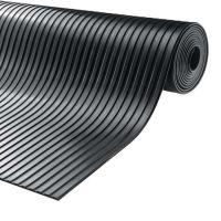 Černá gumová průmyslová protiskluzová rohož Gamma - 1000 x 100 x 0,6 cm