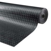 Černá gumová průmyslová protiskluzová rohož Noppa - 1000 x 120 x 0,3 cm
