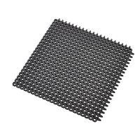 Černá gumová vstupní čistící modulární rohož Master Flex, D12, Nitrile FR - 50 x 50 x 1,2 cm