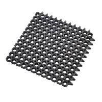 Černá gumová vstupní čistící modulární rohož Master Flex, D23 - 50 x 50 x 2,3 cm