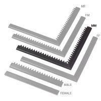 """Černá náběhová hrana """"samec"""" MF Safety Ramps D12/C1,2 Nitrile - 100 x 5 cm"""